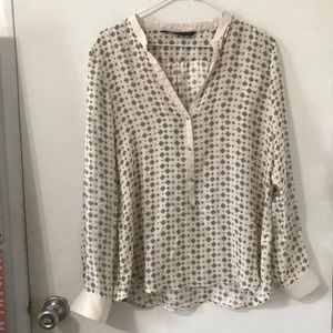 Zara woman mulberry silk blouse